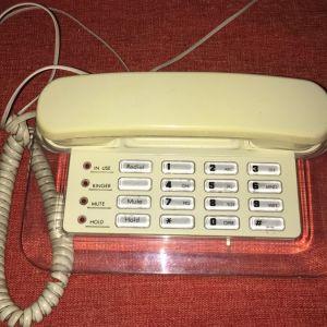 Τηλέφωνο σταθερό,με φωτεινά πλήκτρα.