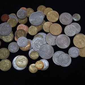 Μεγάλο LOt με 55 Ελληνικά νομίσματα
