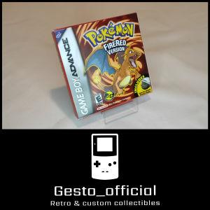 Pokemon Fire Red Gameboy Advance custom box Gesto_official