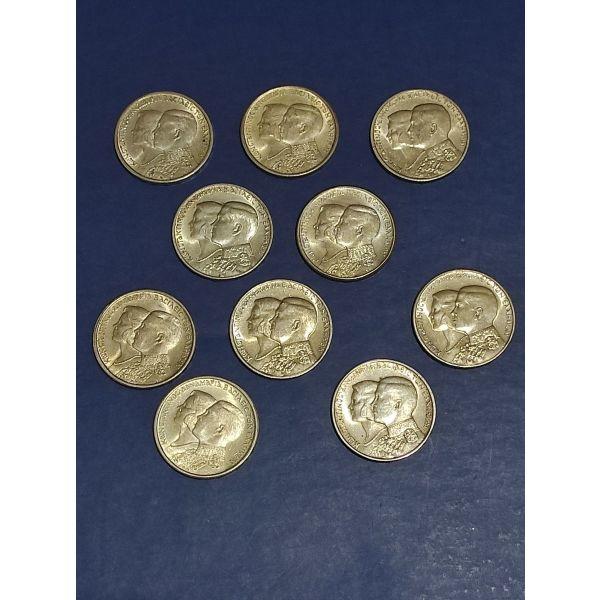10 ellinika asimenia 30 drachmes 1964 UNC
