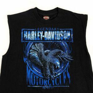 HARLEY DAVIDSON Sleeveless Black Medium