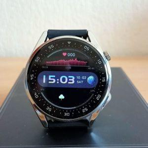Smartwatch καινούργιo με δυνατότητα συνομιλίας και δώρο bluetooth ακουστικό