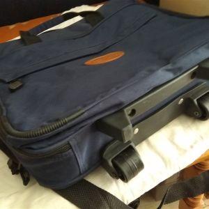 Τσάντα χειρός ώμου βαλιτσάκι με ρόδες