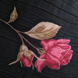 Φούστα  Ζορζέτα & Μουσελίνα Με Τριαντάφυλλα