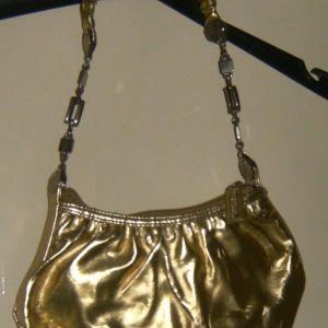 τσάντα σε χρυσό