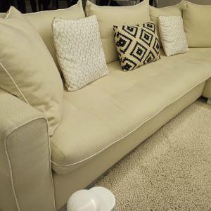 Γωνιακός καναπές σαλονιού, άριστη κατάσταση, αφαιρούμενο πλενόμενο ύφασμα σε όλο τον καναπέ
