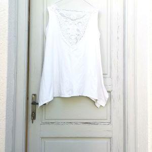 Γυναικείο μπλουζάκι βαμβακερό λευκό