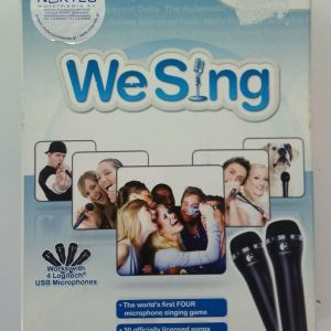 OFFICIAL NINTENDO Wii We Sing & TWO MIC PACK EUROPEAN PAL