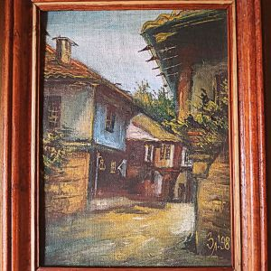Αυθεντικός, ανάγλυφος πίνακας ζωγραφικής σε καμβά