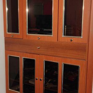 Επιπλο Συνθετο-Βιτρινα Σαλονιου με ντουλαπια,συρταρι μεγαλο