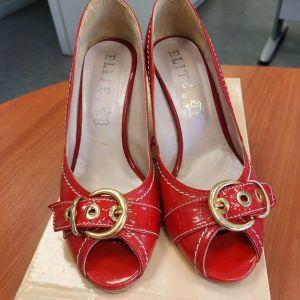 Δερμάτινα παπούτσια κόκκινα elite No 40