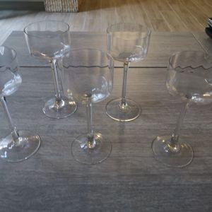 5 ποτήρια κολωνατα