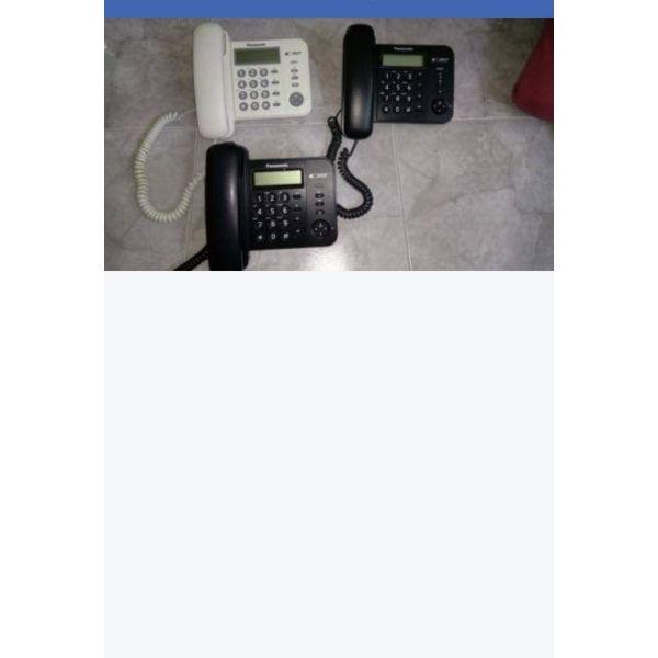 polite stathero ensirmato tilefono PANASONIC KX-TS560