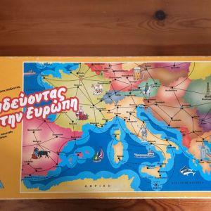 Επιτραπέζιο «Ταξιδεύοντας στην Ευρώπη» 80s