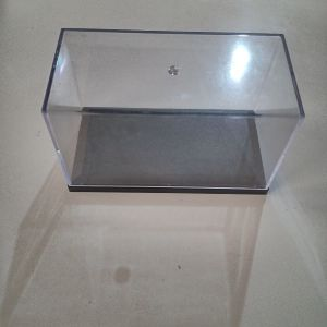 Clear Dustproof Display Box with Balck Base fits  1:64 Doll Model