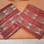 2 μαξιλάρια διακοσμητικά διαστάσεις 0.45  Χ  0.45 μπορντω με λαδι, με φερμουάρ