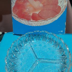 γυαλινη πιατελα vintage  ορντερβιερα/για ξηρους καρπους
