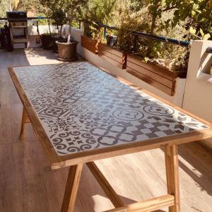 Τραπέζι SOHO industrial από ακακία σε φυσικό χρώμα  Μ205xΠ105xΥ75cm / επιπλα κηπου / επιπλα Βεραντας / τραπεζι Μπαλκονιου / εξοχικο