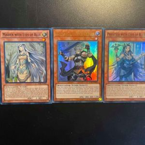Protector with Eyes of Blue (Ultra Rare) + Maiden with Eyes of Blue (Super Rare) + Priestess with Eyes of Blue (Super Rare)