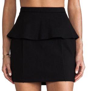 Μίνι μαύρη peplum φούστα Lovers + Friends, μέγεθος XS