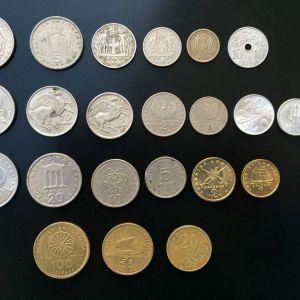 Νομίσματα Ελληνικά διαφορετικα περιοδου 1954-2000.