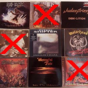 Heavy, Power, Thrash, Doom, Death, Goth, Black κλπ CDs