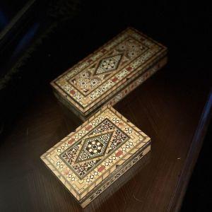 2 Vintage Μεσανατολίτικα Κουτιά Μπιζουτιέρες