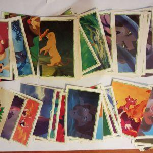 lot 25 αυτοκολλητα χαρτακια lion king 10 euro ola mazi