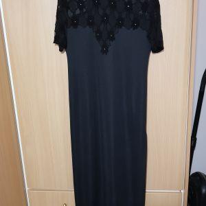 Μαύρο φόρεμα με δαντέλα m/l