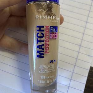 make up rimmel match perfection foundation 103 true ivory