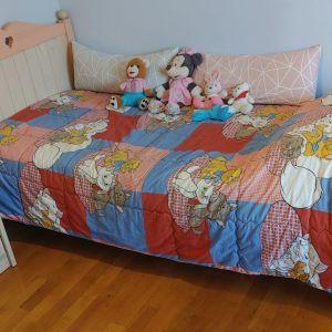 Παιδικό - εφηβικό κρεβάτι   - Στρώμα - Κομοδίνο