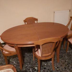 Τραπέζι και 6 καρεκλες