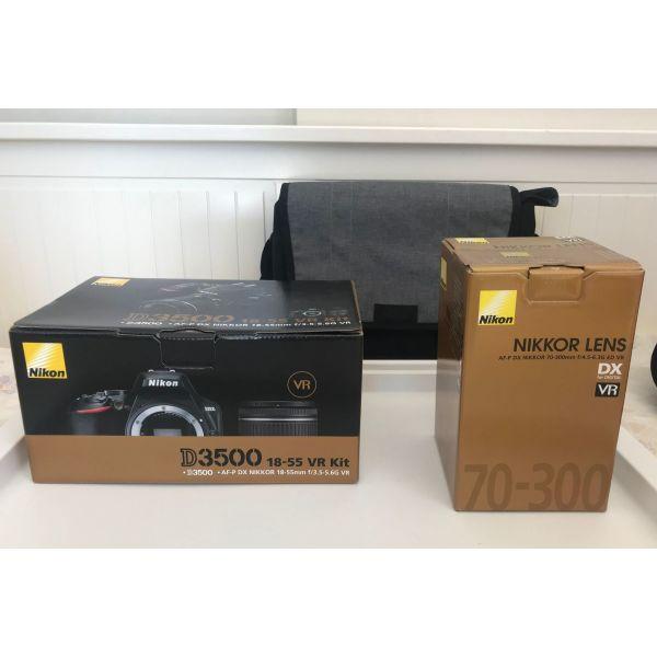 Nikon D3500 Kit (AF-P DX 18-55mm VR + AF-P DX 70-300mm VR) Black