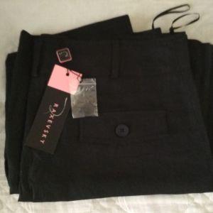 Raxevsky μαύρη φούστα λινή XL