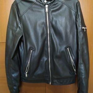 Leather Jacket ZARA (καινούριο) μοναδική προσφορά! Μόνο 24€!!!