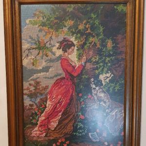 Χειροποίητος Κεντητός Πίνακας - Πριγκίπισσα Σίσσυ