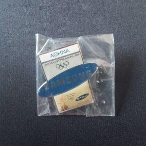 Καρφίτσα 2004 Samsung Αθήνα Λαμπαδηδρομία