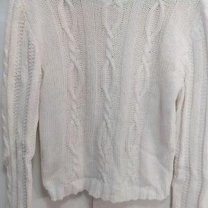 STEFANEL πλεκτή άσπρη μπλούζα