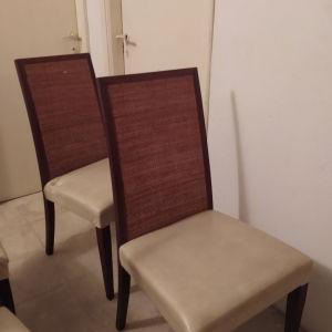 Σετ καρέκλες τραπεζαρίας  δέρμα