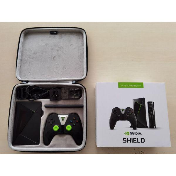 NVIDIA Shield TV Box 4K HDR Model P2897 Android Smart Bundle Kit + valitsaki metaforas
