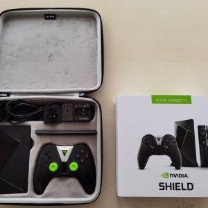 NVIDIA Shield TV Box 4K HDR Model P2897 Android Smart Bundle Kit + Βαλιτσακι μεταφοράς
