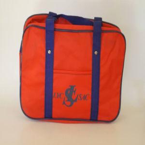 Vintage κόκκινη σχολική τσάντα 1980s LYC-SAC