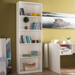Βιβλιοθήκη Δαπέδου Adore με 5 ράφια λευκή ή σόμονα