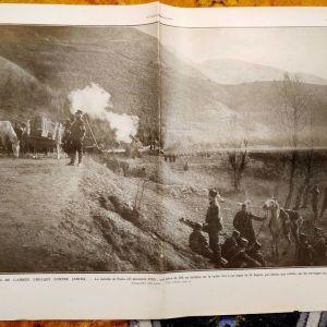 Αφιέρωμα του γαλλικού περιοδικού Illustration (σελ. 24, τευχ. 3646 11-1-1913) στις μάχες της Πέστας προ του Μπιζανίου για την απελευθέρωση των Ιωαννίνων 1913, Ioannina Jannina Janena Janina Yannena