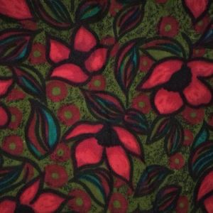 Ύφασμα κομμάτι κρεπ πολύχρωμο με λουλούδια