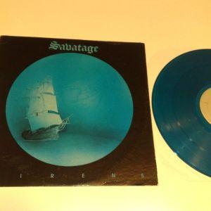 Savatage-Sirens Μπλε Δισκος-βινυλιο lp (heavy metal)