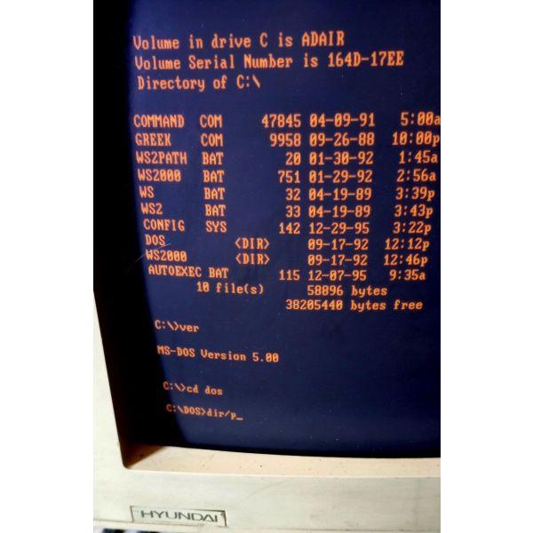 i/i 386SX EGA HD 40 MB DOS 5.0