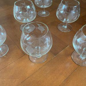 6 κρυστάλλινα ποτήρια του κονιάκ αντικα αγγλιας