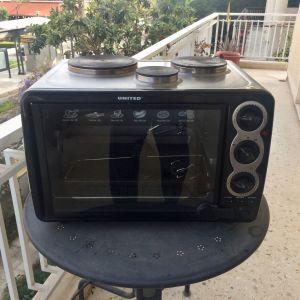 Φουρνάκι με 3 εστίες και grill United