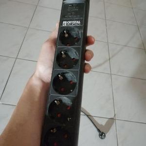Πολύπριζο Crystal Audio 5 θέσεων